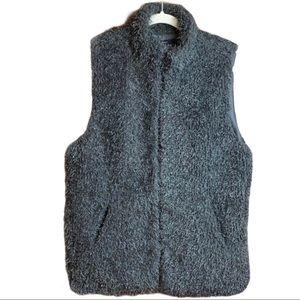 Cejon Shaggy Faux Fur Lined Pocketed Vest Size Large